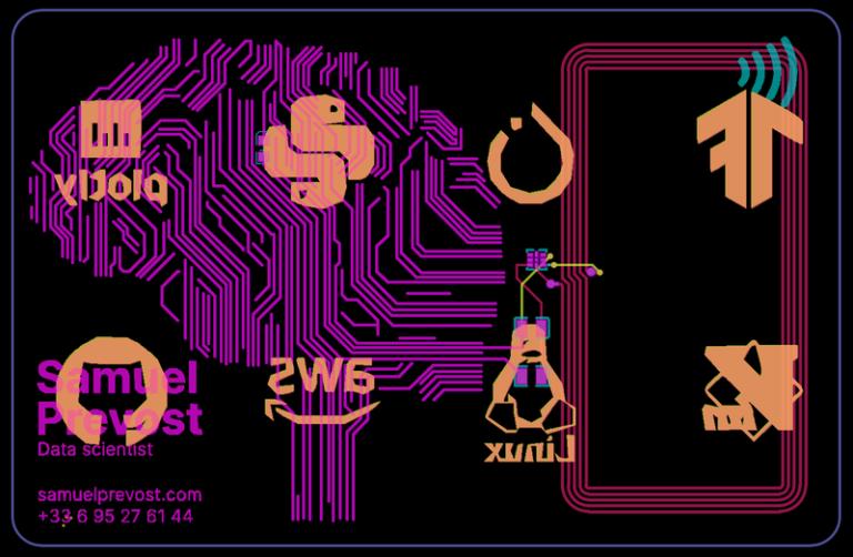 Business card integrate deep learning frameworks